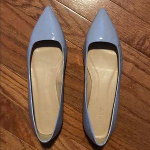 J. Crew Patent Leather Lavender Pointy Toe Flats